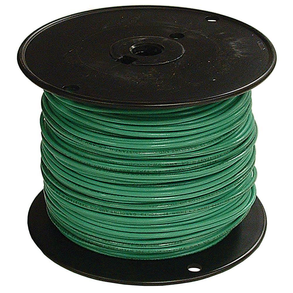6 Green Stranded Cu Simpull Thhn Wire