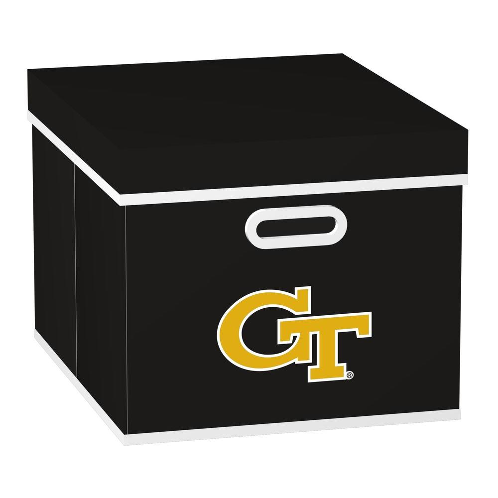 MyOwnersBox College STACKITS Georgia Tech 12 in. x 10 in. x 15 in. Stackable Black Fabric Storage Cube