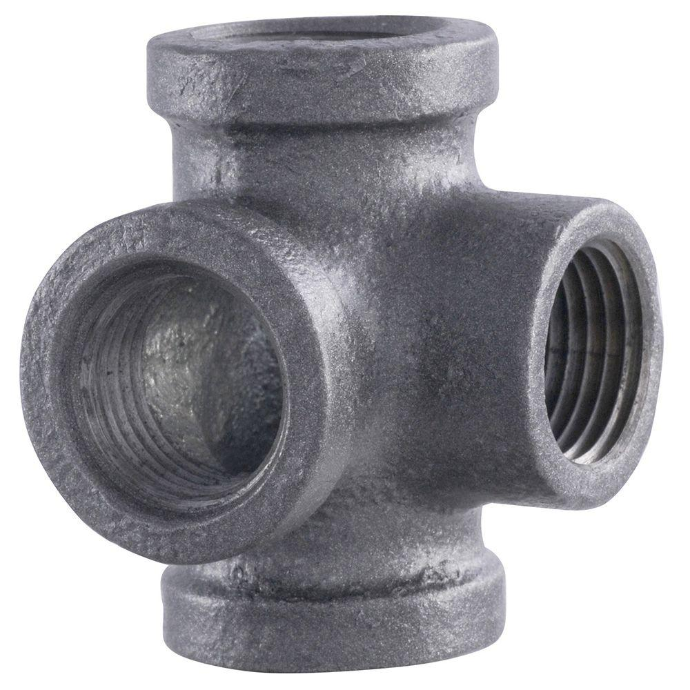 iron pipe connector adjustable pipe home depot ldr industries pipe decor 12 in 4way black iron side outlet