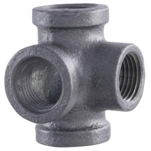 LDR Industries Pipe Decor 1 2 in Black Iron Pipe Side Outlet Tee