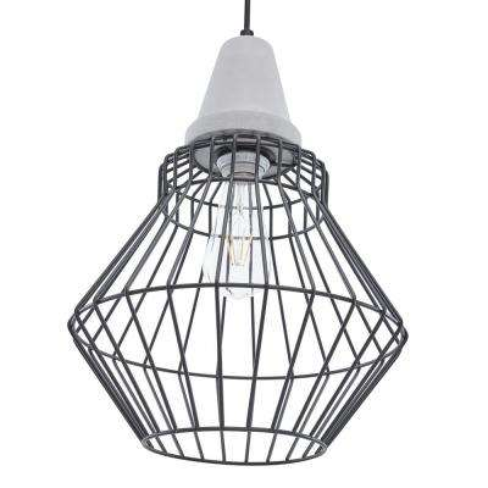 Dorthi 3-Light Geometric Cage Pendant (3-Piece Set) - Black