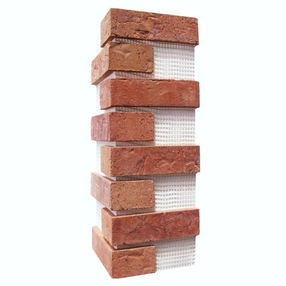 21 in. x 15 in. x 0.5 in. Cordova Brickweb Thin Brick Corners