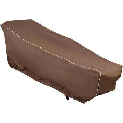Taupe 28 in. x 76 in. x 30 in. Dark Brown Chaise Cover