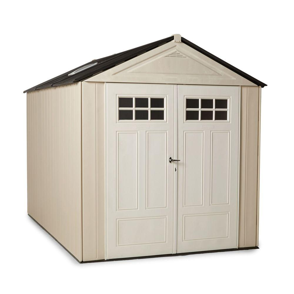 Rubbermaid Max 10 Ft 7 In X 3 Ultra Storage Shed 1862548 The Home Depot