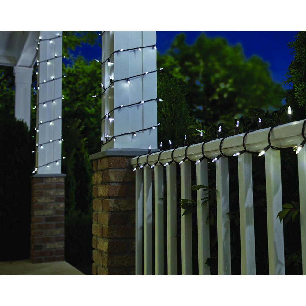 33 ft. Line Voltage 100-Light LED Smooth Mini Cool White Garden Indoor/Outdoor String Light (2-Pack)