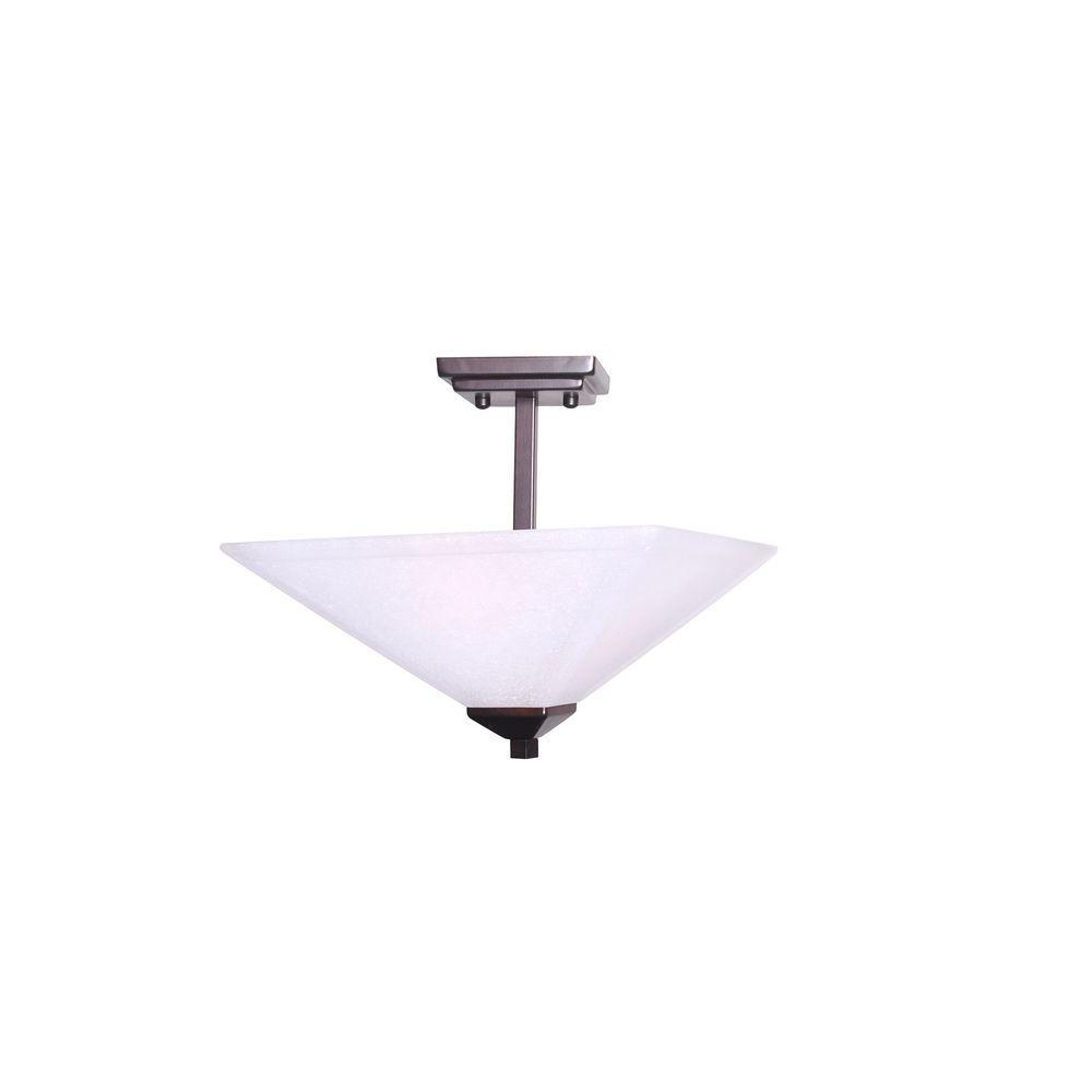 Torino 2-Light Brushed Bronze Semi Flush Mount