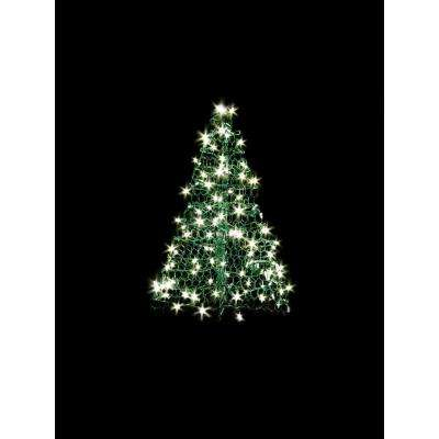 3 ft. Indoor/Outdoor Pre-Lit Incandescent Artificial Christmas Tree with Green Frame and 200 Clear Lights