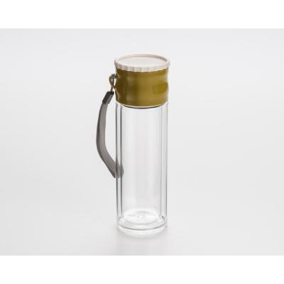 8.8 oz. Double Borosilicate Glass Wall Tea Infusion Tumbler