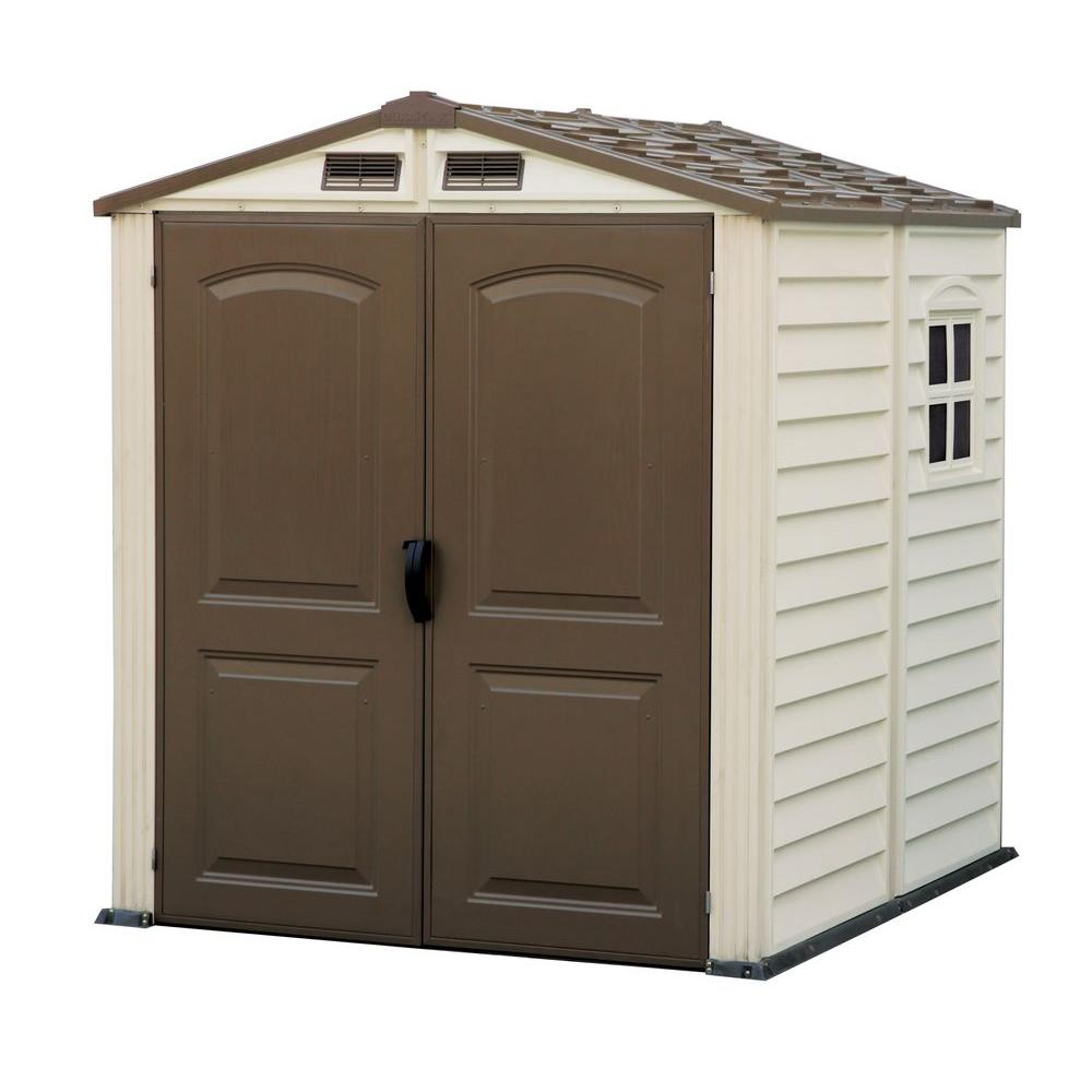 Duramax Building Products Woodside 6 Ft. X 6 Ft. Vinyl Shed With Floor
