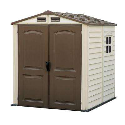 Woodside 6 ft. x 6 ft. Vinyl Shed with Floor