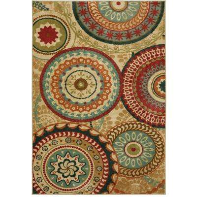 Forest Suzani Toast 8 ft. x 10 ft. Area Rug