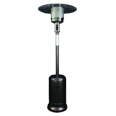 40,000 BTU Hammer Tone Bronze Round Mushroom Style Gas Patio Heater