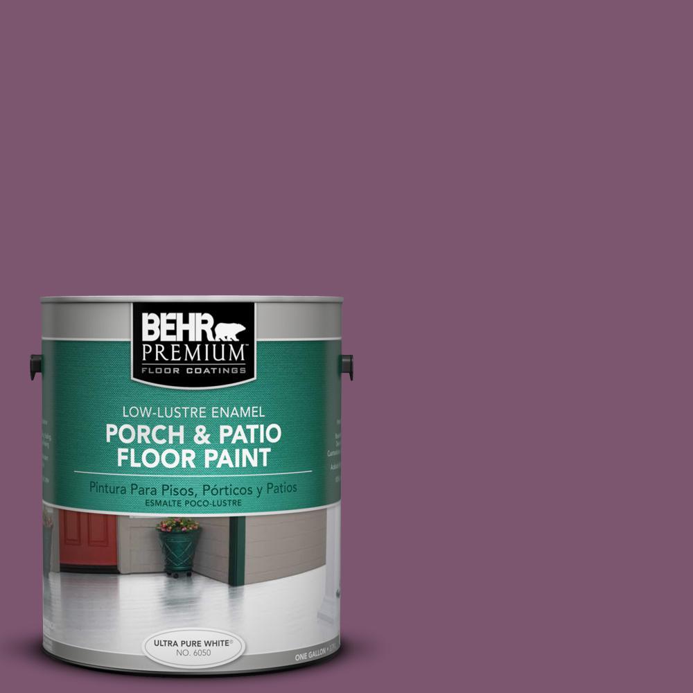 1 gal. #M110-7 Euphoric Magenta Low-Lustre Interior/Exterior Porch and Patio Floor Paint