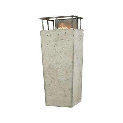 Brocca 1-Light Silverdust Iron with Concrete Shade Sconce