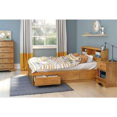 Little Treasures 3-Drawer Country Pine Full-Size Storage Bed