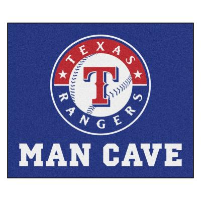 MLB - Texas Rangers Man Cave Tailgater 5 ft. x 6 ft. Indoor Area Rug