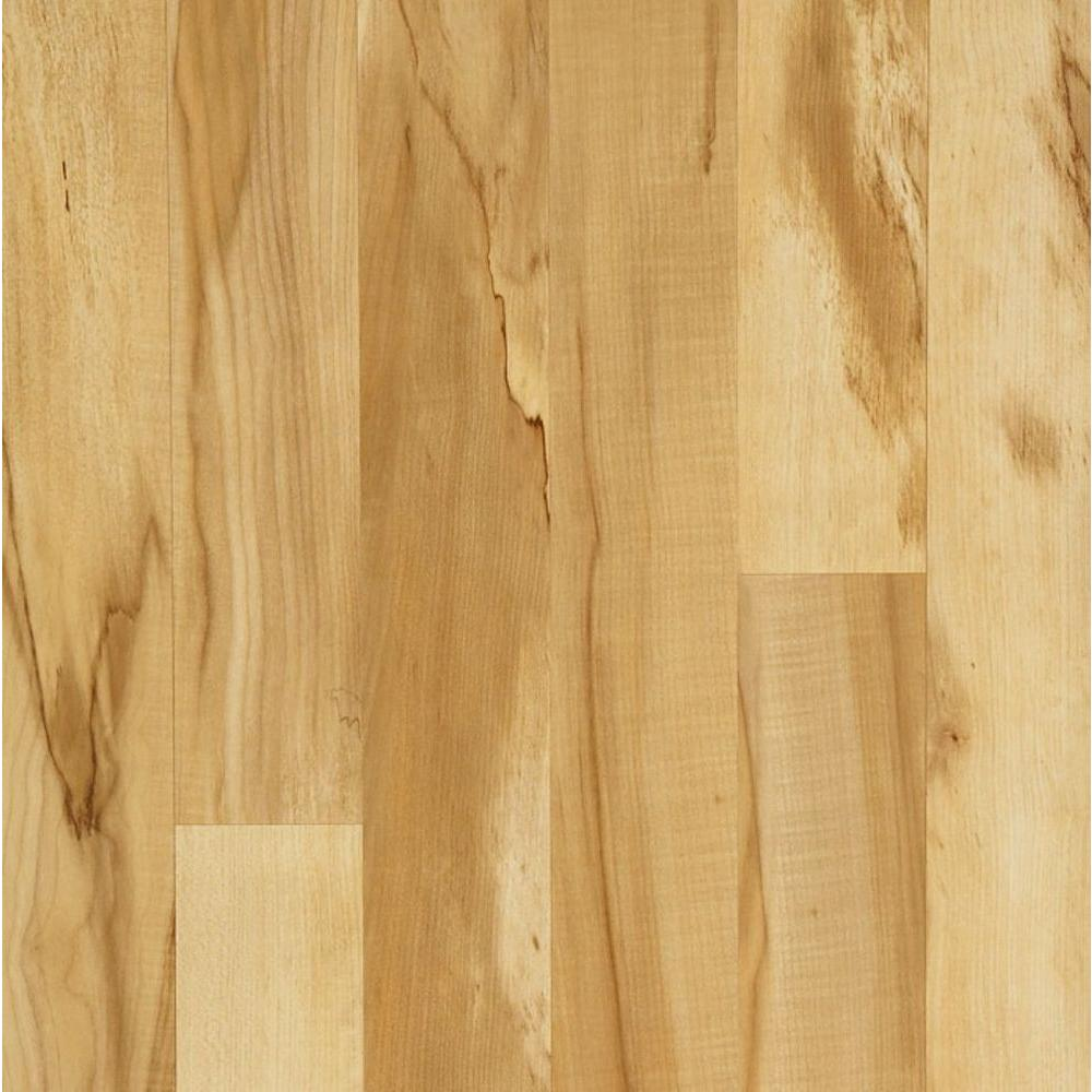 Hampton Bay Toasted Spalted Maple Laminate Flooring - 5 in. x 7 in. Take Home Sample