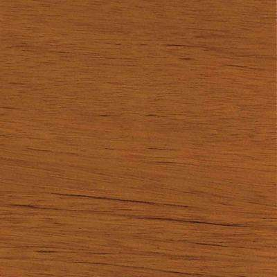 4 in. x 3 in. Wood Garage Door Sample in Luan with Natural 078 Stain