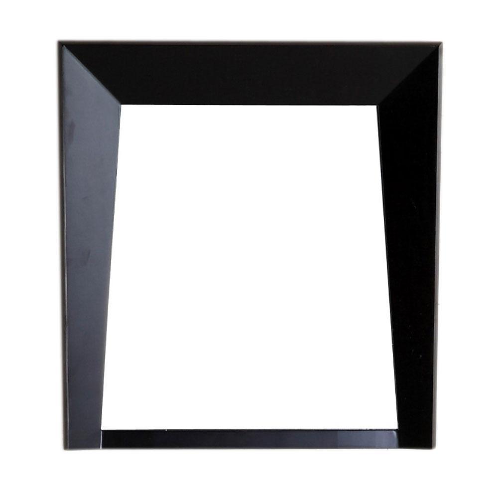 Cloverdale 24 in. W x 2.8 in. D x 26 in. H Single Framed Wall Mirror in Dark Espresso