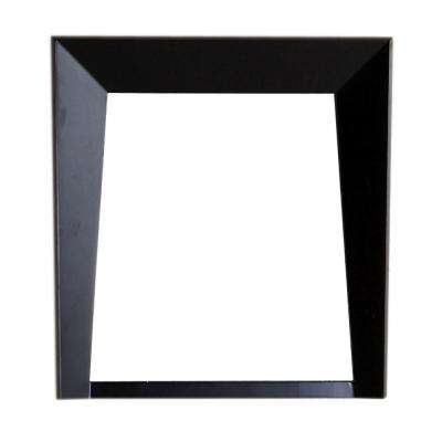 Cloverdale 23.8 in. W x 2.8 in. D x 25.5 in. H Single Framed Wall Mirror in Dark Espresso