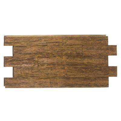 Time Weathered Faux Rustic Panel 1-1/4 in. x 23 in. x 48 in. Custom Walnut Polyurethane Interlocking Panel