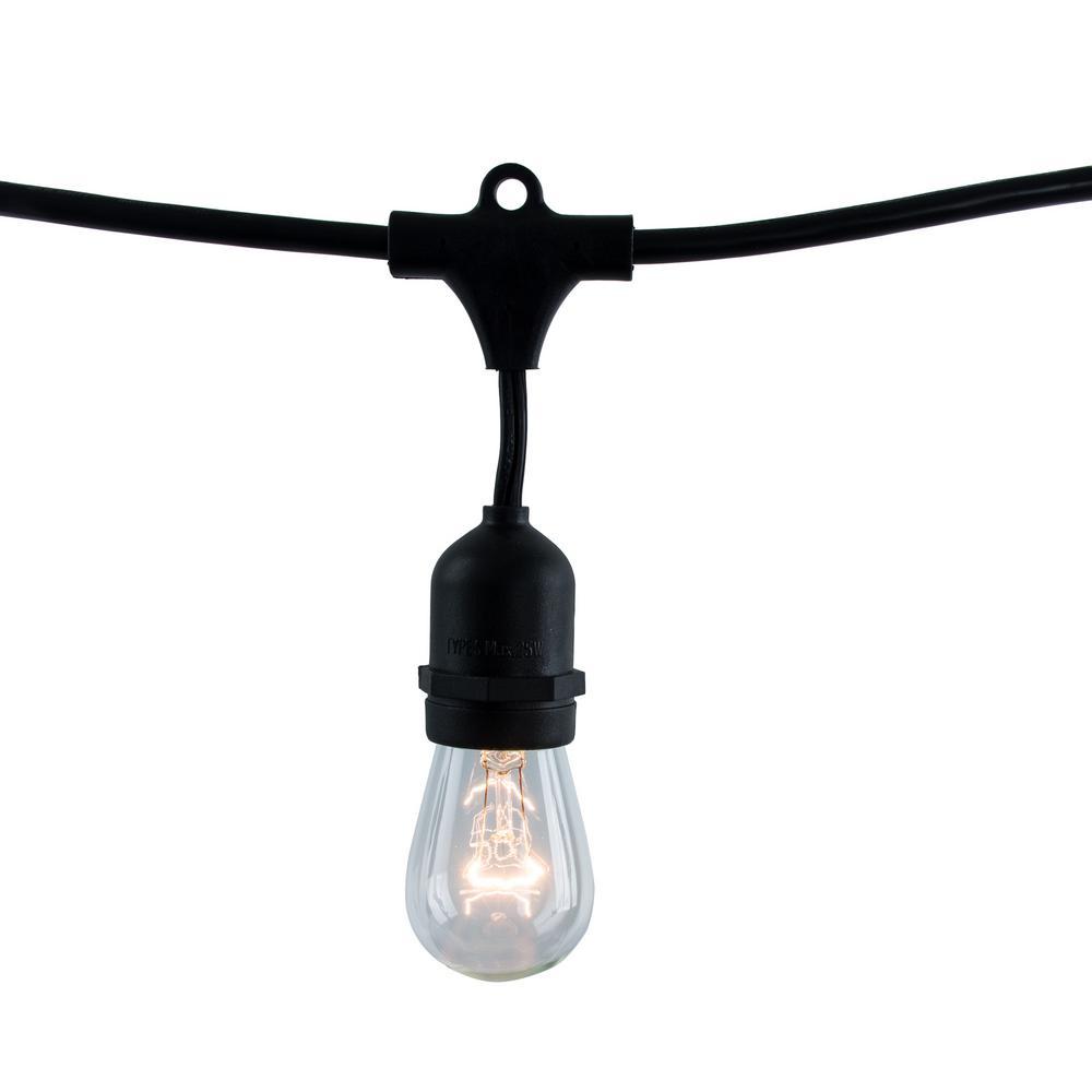 14 ft. 10-Socket with 11-Watt S14 Incandescent String Light Set