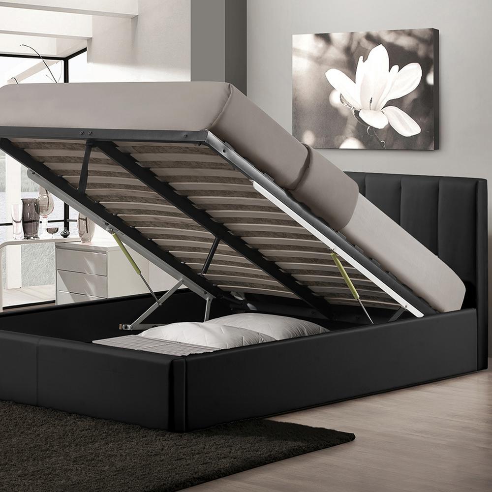 Baxton Studio Engelbertha Black Queen Upholstered Bed-28862-6112-HD ...