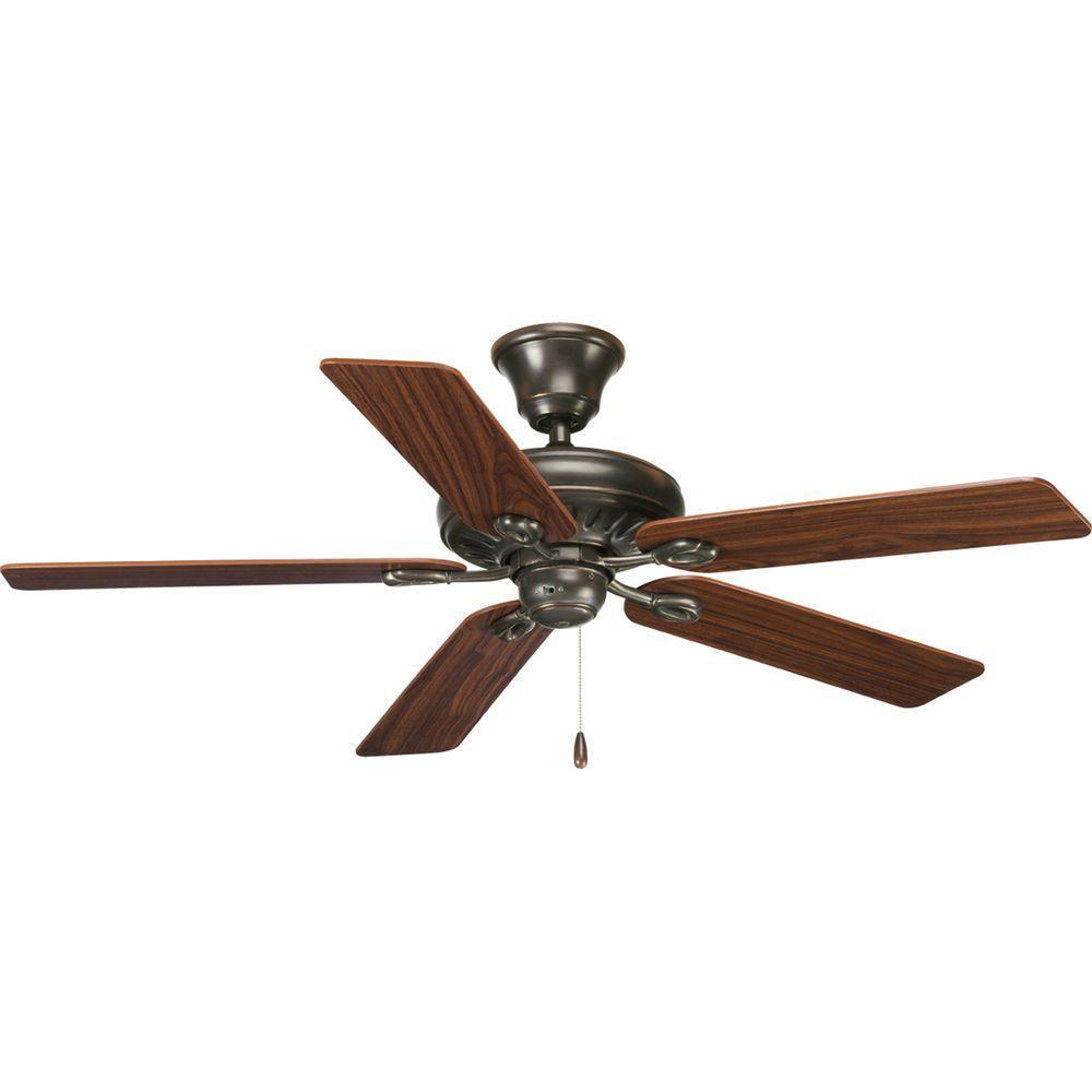 Lighting And Ceiling Fans: Progress Lighting AirPro Signature 52 In. Indoor Antique