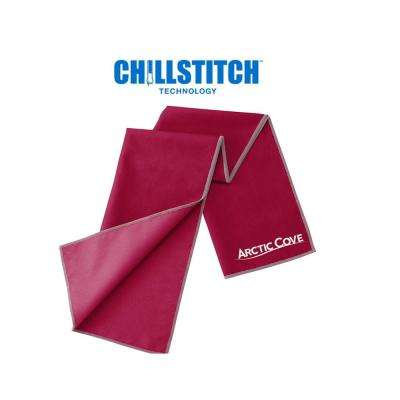 12 in. x 33 in. Large Cooling Towel Maroon