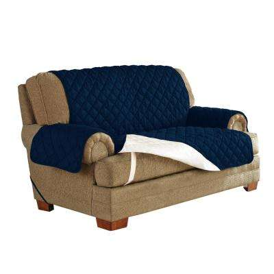 Navy Ultimate Waterproof Furniture Protector Treated with NeverWet Loveseat