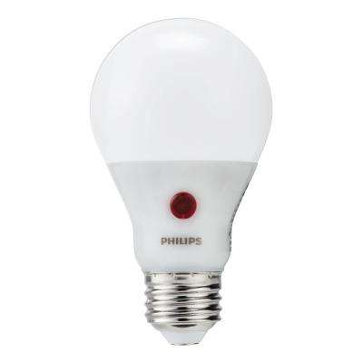 60-Watt Equivalent A19 Dusk To Dawn Automatic On/Off Energy Saving LED Light Bulb Soft White (2700K)