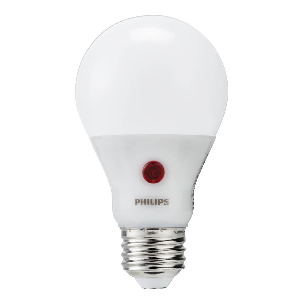 Philips 60-Watt Equivalent A19 Dusk To Dawn Automatic On/Off Energy Saving LED Light Bulb Soft White (2700K)