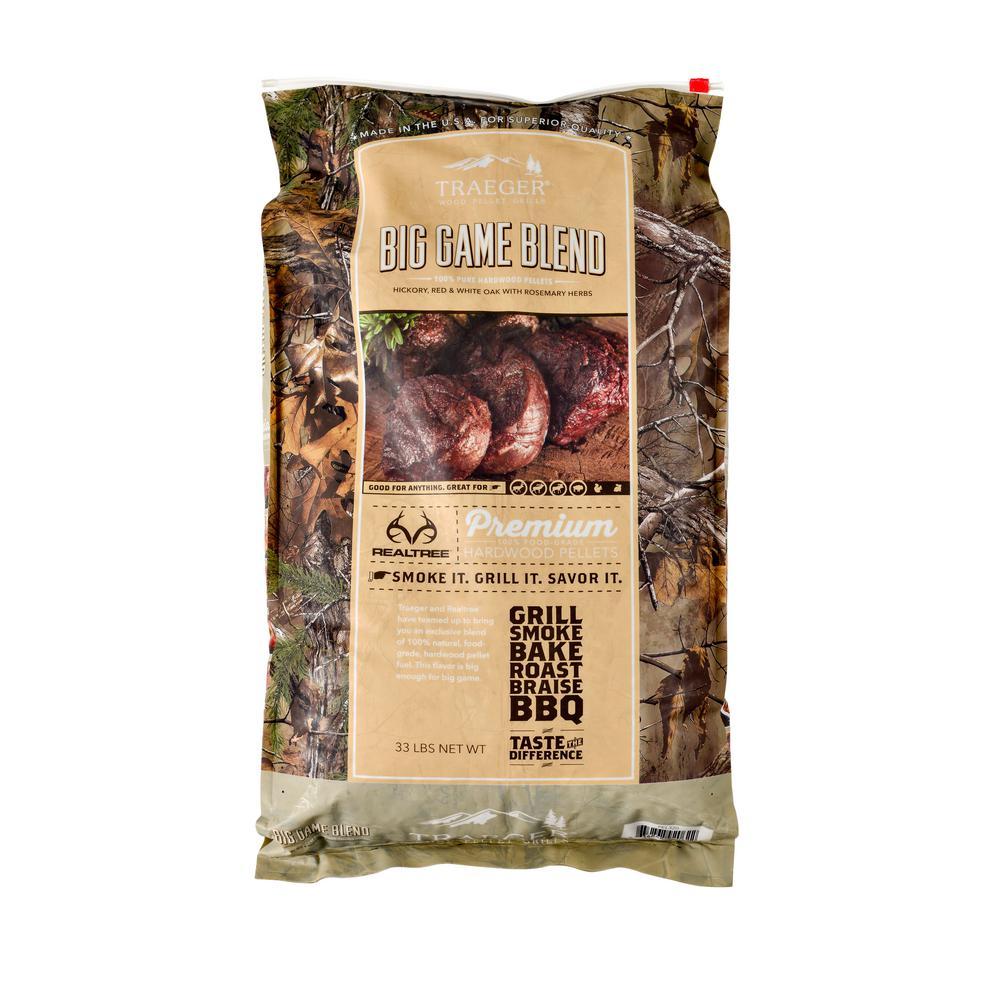 33 lb.Realtree Big Game Blend Wood Pellets