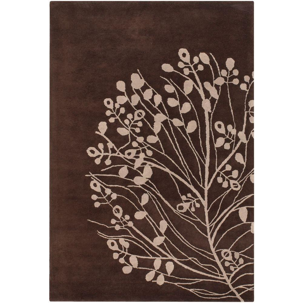 Chandra Dharma Brown/Beige 7 ft. 9 in. x 10 ft. 6 in. Indoor Area Rug