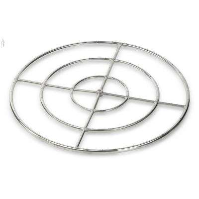 36 in. Triple-Ring 304. Stainless Steel Fire Pit Ring Burner, 3/4 in. Inlet