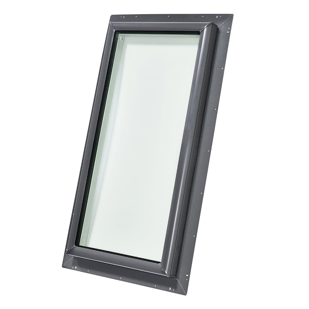 30-1/2 in. x 46-1/2 in. Fixed Pan-Flashed Skylight with Tempered Low-E3