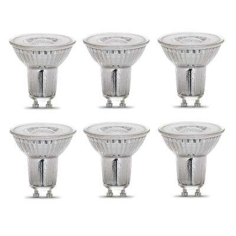 35-Watt Equivalent MR16 GU10 Dimmable CEC Title 20 LED 90+ CRI Flood Light Bulb, Bright White (6-Pack)
