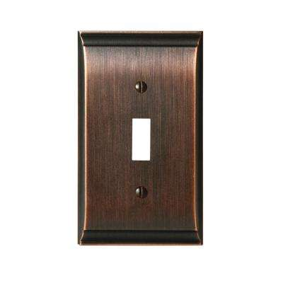 Candler 1-Toggle Wall Plate, Oil-Rubbed Bronze