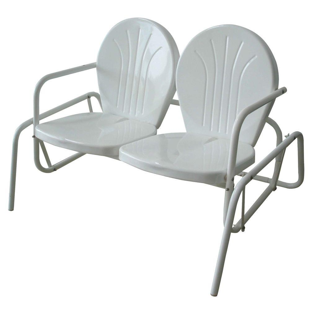 AmeriHome Double Seat Glider Patio Chair for Indoor/Outdoor Use ...