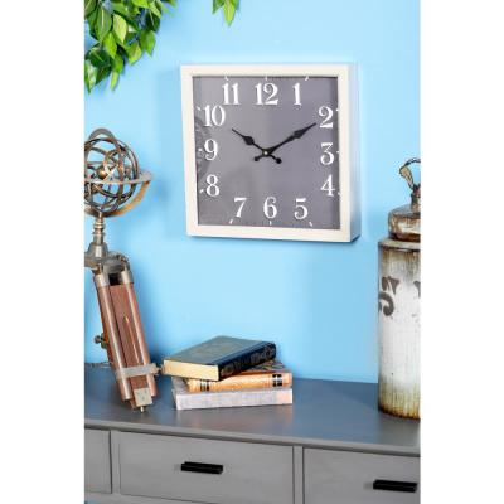 Litton Lane Multi-Colored Modern Analog Wall Clock