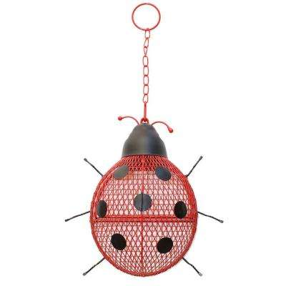 Lady Bug Mesh Bird Feeder