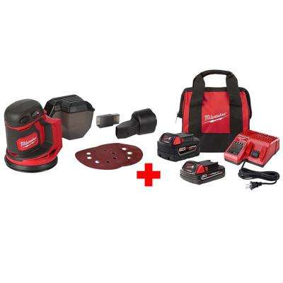 M18 18-Volt Lithium-Ion Cordless 5 in. Random Orbit Sander with One 5.0 Ah and One 2.0 Ah Battery, Bag and Charger