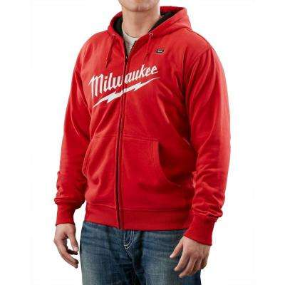 3X-Large M12 Lithium-Ion Cordless Red Heated Hoodie (Hoodie Only)