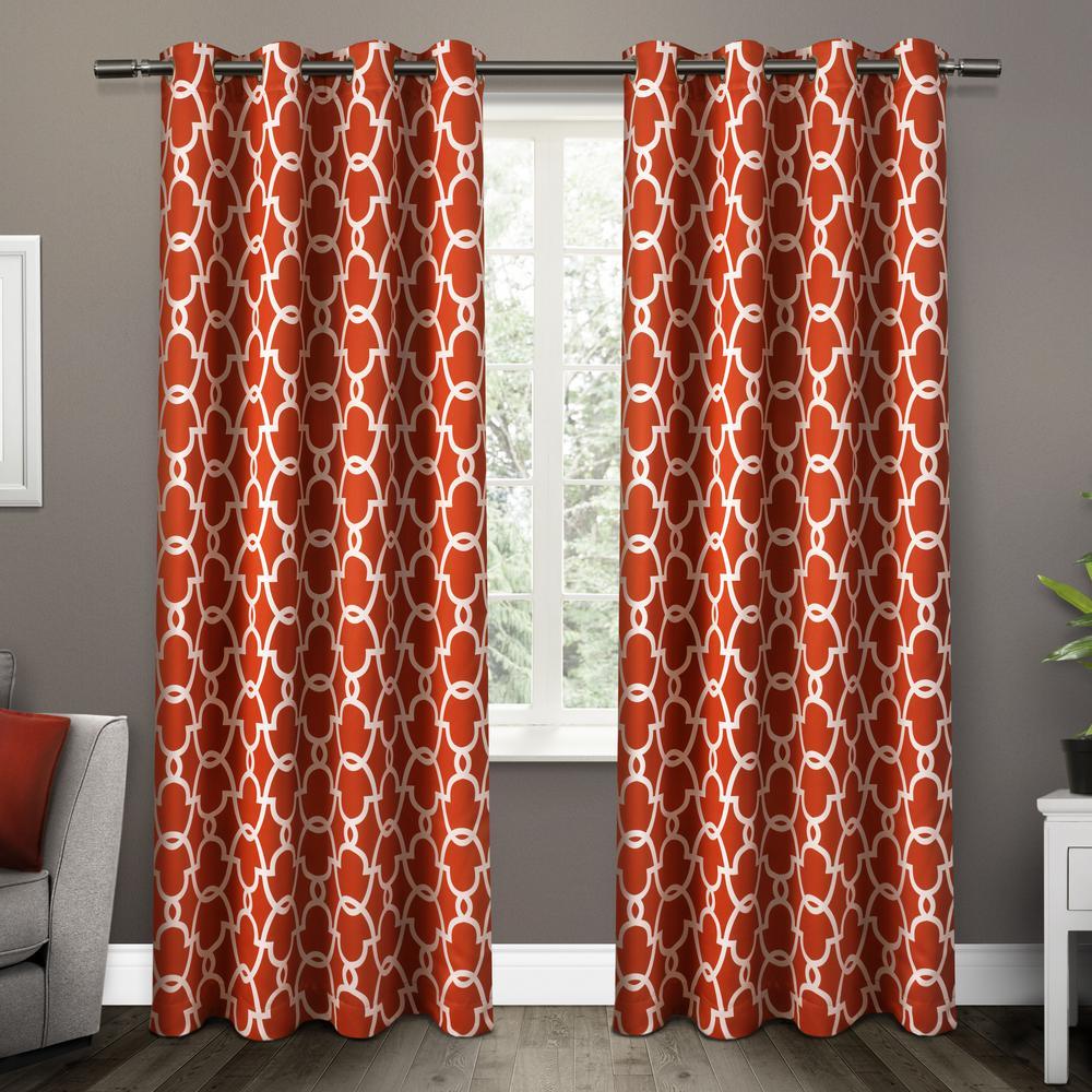 Gates Mecca Orange Sa Blackout Thermal Grommet Top Window Curtain