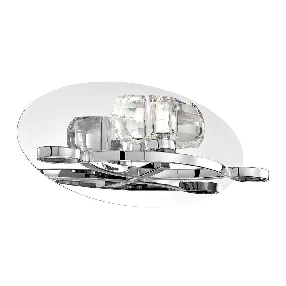 Buca Collection 1-Light Chrome and Clear Wall Sconce