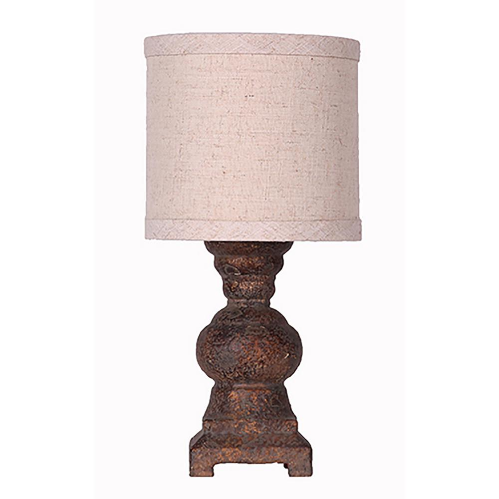 Ore International 12 In Ceramic Ivory Table Lamp 624