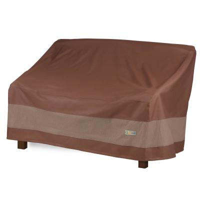 Ultimate 63 in. L x 31 in. W x 35 in. H Mocha Cappuccino Patio Bench Cover