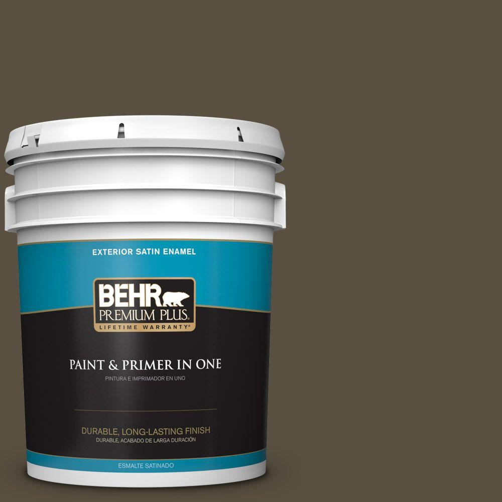 BEHR Premium Plus 5-gal. #730D-7 Shadow Ridge Satin Enamel Exterior Paint
