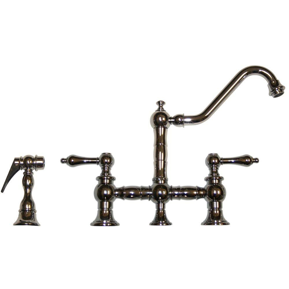 the stainless single handle whitehaus faucet collection home brushed depot n steel out compressed b sk in sprayer pull faucets bss kitchen waterhaus