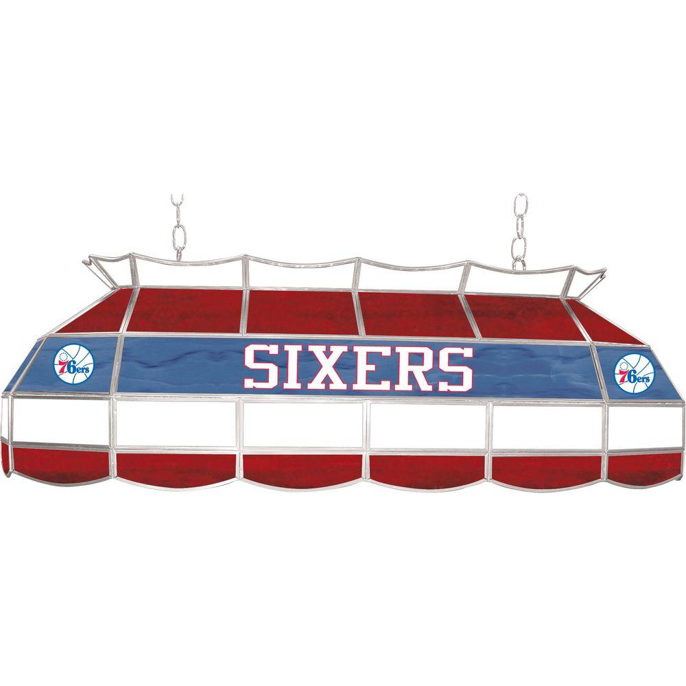 NBA Philadelphia 76ers NBA 3-Light Stained Glass Hanging